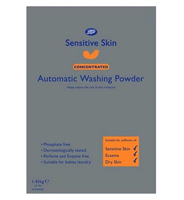 Bargain Boots Sensitive Skin Concentrated Automatic Washing Powder   1.45kg Stockists