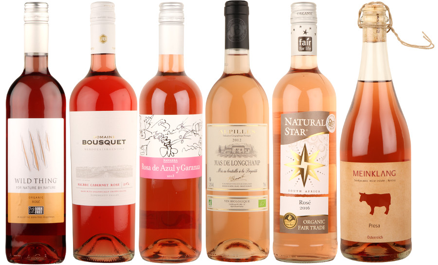 Bargain Box of 6 Organic Rosé Wines Stockists