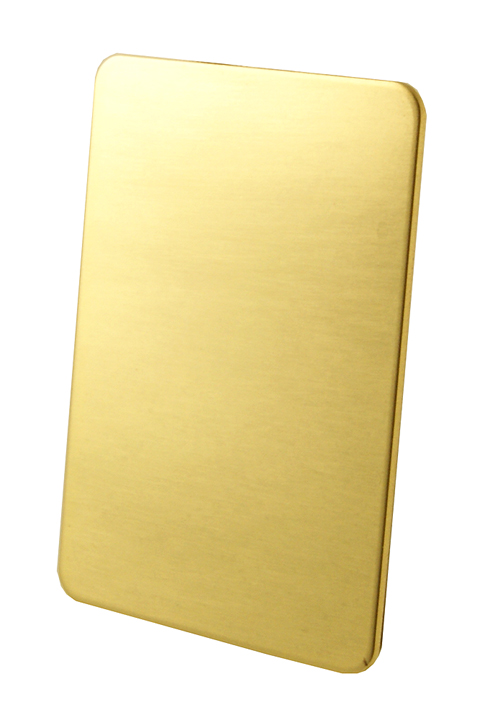 Stockists of Brass Repair Plate for Doors