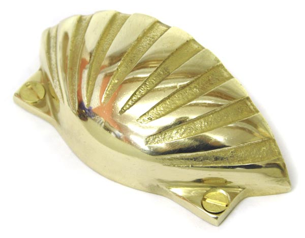 Bargain Brass Shell Drawer Pull Stockists