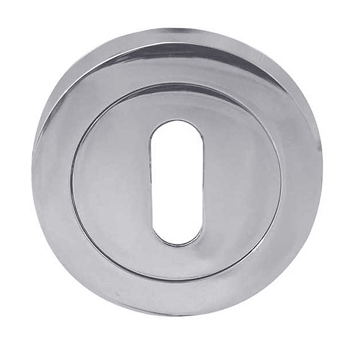 Stockists of Bright Chrome Standard Key Escutcheon 50mm