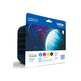 Bargain Brother LC970BK/ LC970C/ LC970M/ LC970Y Original Black & Colour 4 Ink Cartridge Pack Stockists