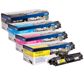 Bargain Brother TN 321BK/C/M/Y Original Black & Colour Toner Cartridge 4 Pack Stockists