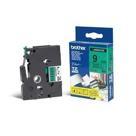 Bargain Brother TZE 721 Original P Touch Black on Green Laminated Tape 9mm x 8m Stockists