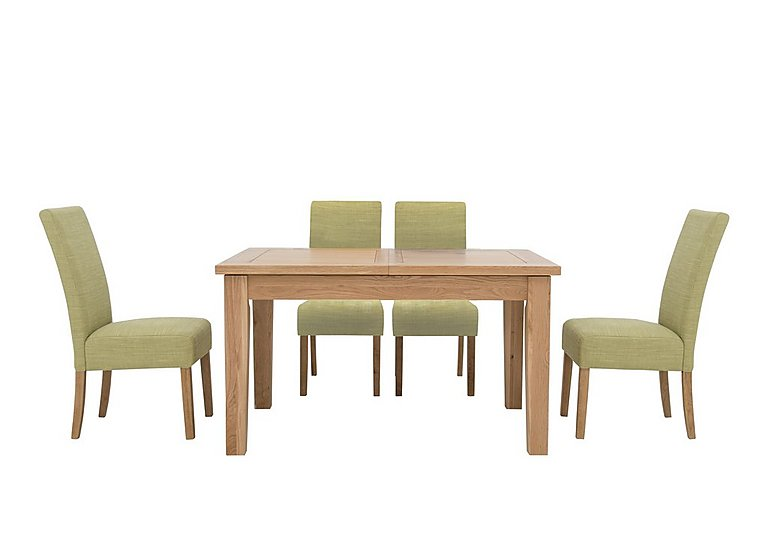 Bargain California Extending Rectangle Dining Table and 4 Fabric Dining Chairs Stockists