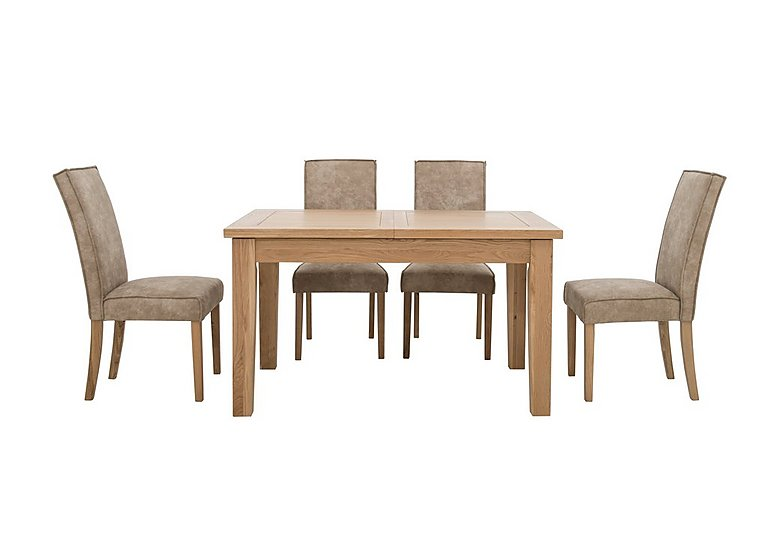 Bargain California Extending Rectangle Dining Table and 4 Faux Suede Chairs Stockists