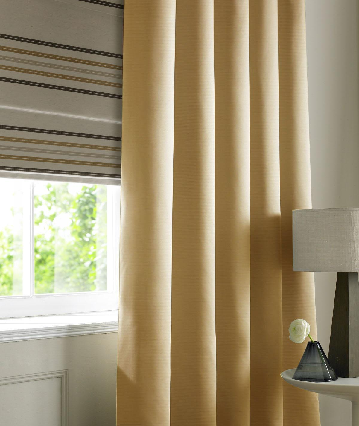 Stockists of Caramel Rib Plain Made to Measure Curtains