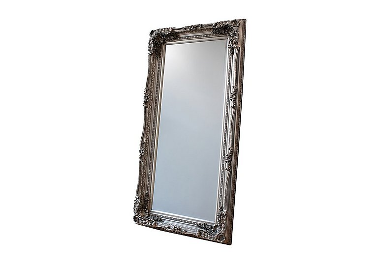 Bargain Carved Louis Leaner Silver Mirror Stockists
