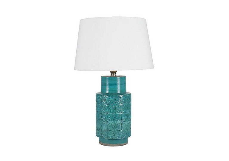 Bargain Ceri Aqua Table Lamp Stockists