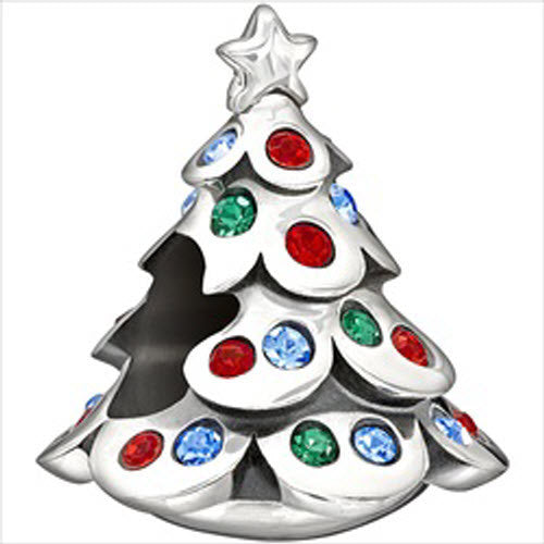 Bargain Chamilia Charm Christmas Tree Silver Stockists