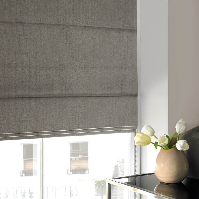 Stockists of Charcoal Howey Roman Blind