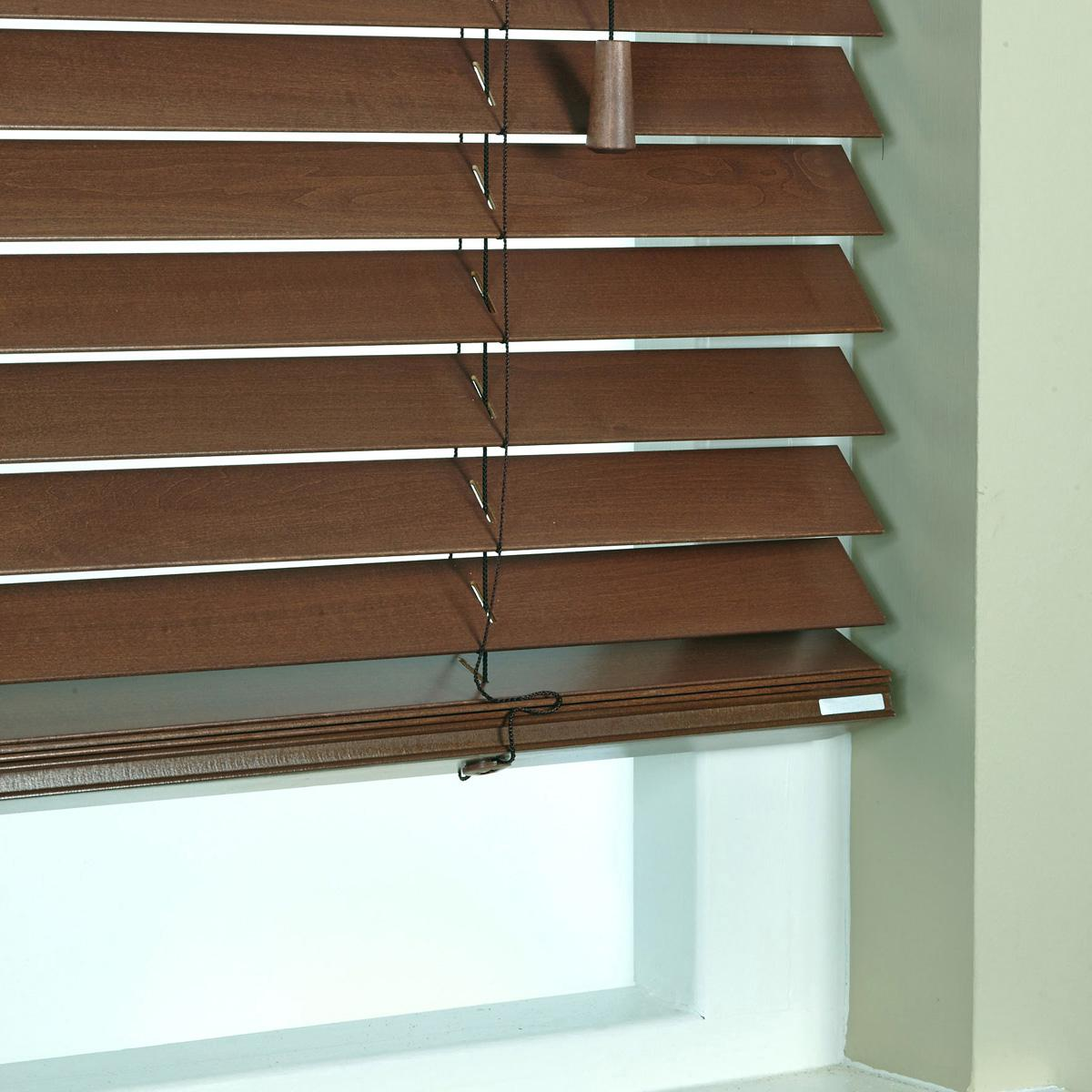 Stockists of Chestnut 50mm Elementi Wood Venetian Blind