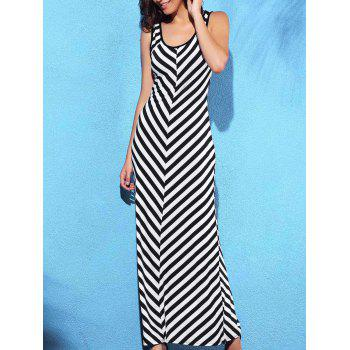 Bargain Chic Sleeveless Scoop Neck Slimming Striped Women's Dress Stockists