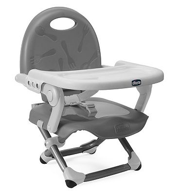 Bargain Chicco Pocket Snack Booster Chair   Silver Stockists