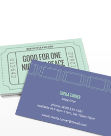 Stockists of Childcare Business Cards, 50 qty