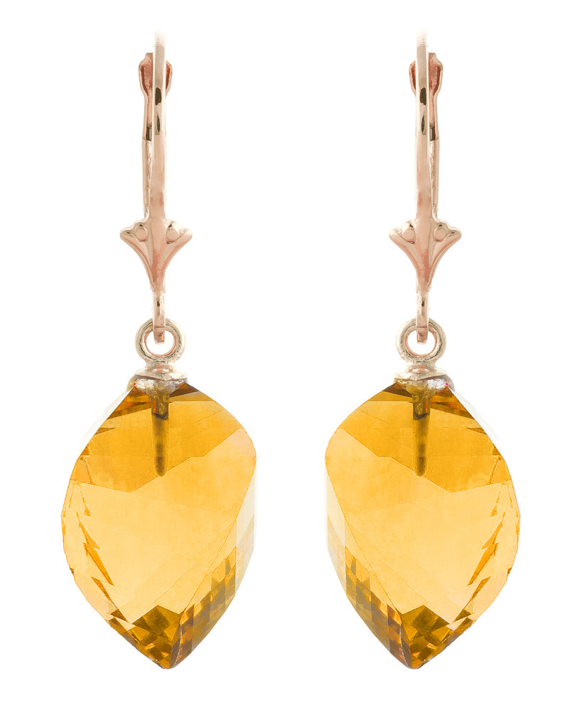 Bargain Citrine Briolette Drop Earrings 23.5ctw in 9ct Rose Gold Stockists