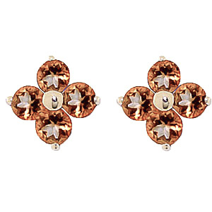 Bargain Citrine Clover Stud Earrings 1.15ctw in 9ct Gold Stockists