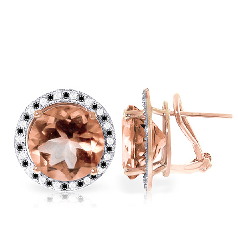 Bargain Citrine and Diamond Stud French Clip Halo Earrings 12.0ctw in 9ct Rose Gold Stockists