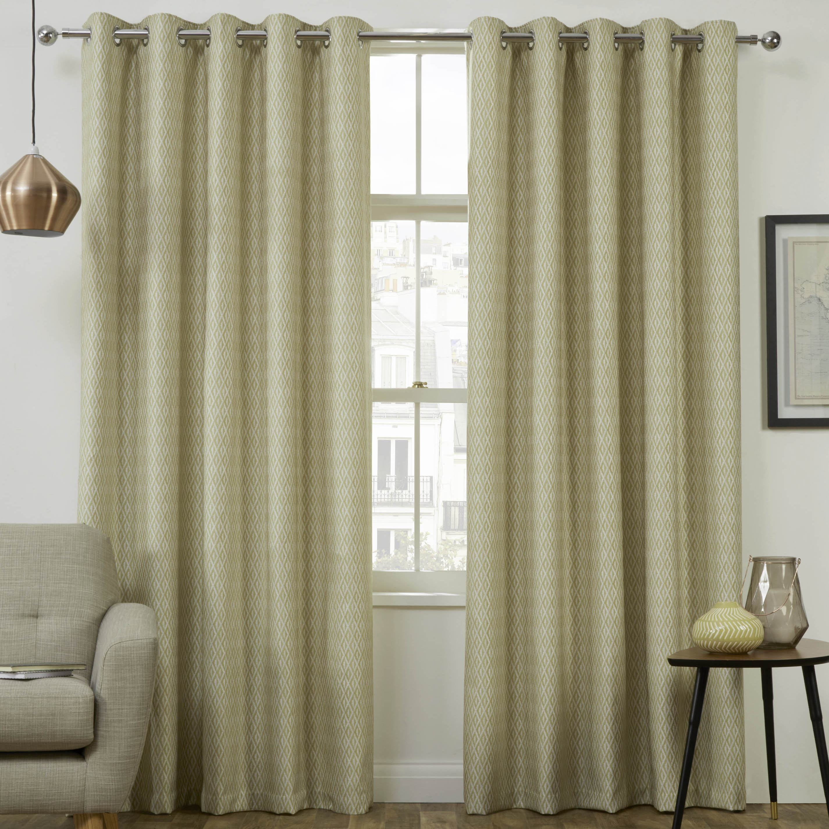 Stockists of Citron Phoenix Thermal Interlined Luxury Ready Made Eyelet Curtains