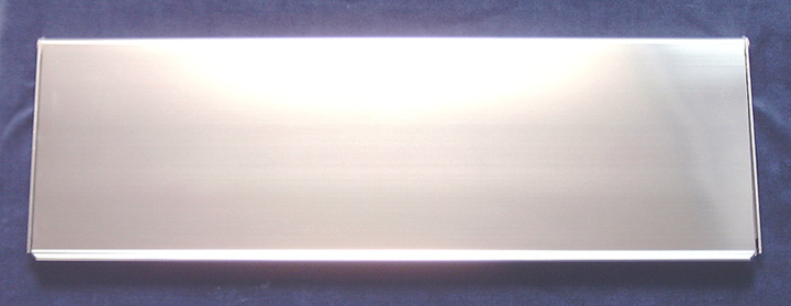 Stockists of Commercial Interior Door Plate Polished Anodised 16x5in (406x125mm)