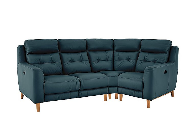 Bargain Compact Collection Bijoux Leather Recliner Corner Sofa Stockists