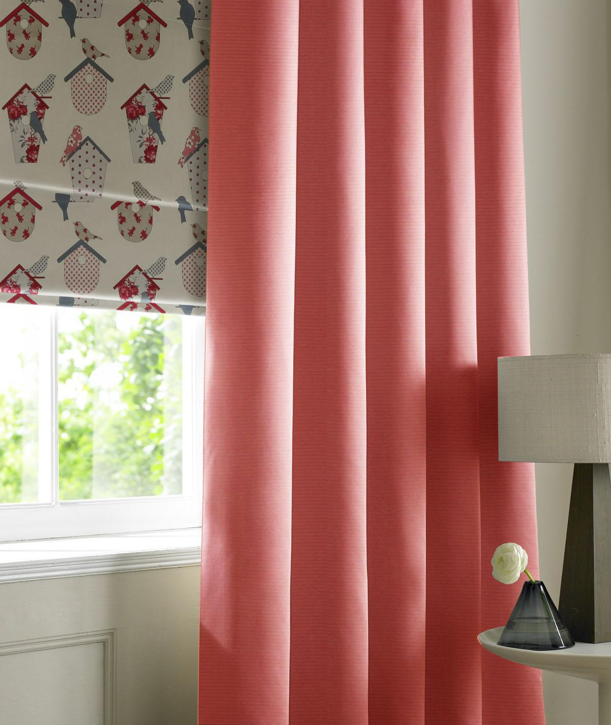 Stockists of Coral Rib Plain Made to Measure Curtains