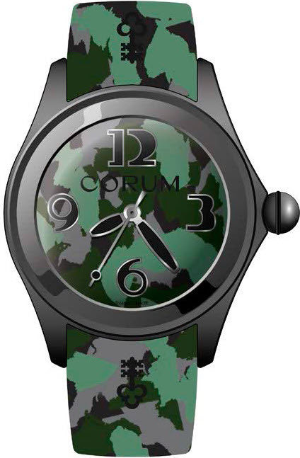 Bargain Corum Watch Bubble 47 Camouflage Limited Edition Stockists
