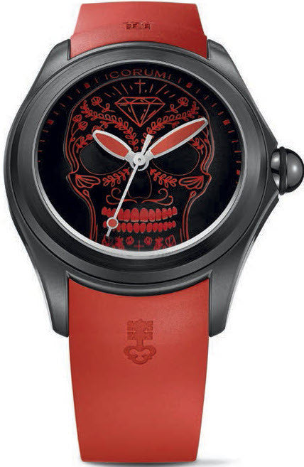 Bargain Corum Watch Bubble 47 Skull Limited Edition Stockists