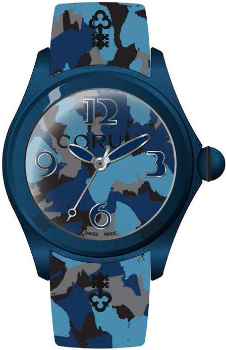 Bargain Corum Watch Bubble 52 Camouflage Blue Limited Edition Pre Order Stockists