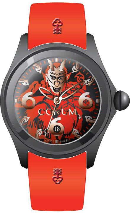 Bargain Corum Watch Bubble 52 Diablo Limited Edition Stockists