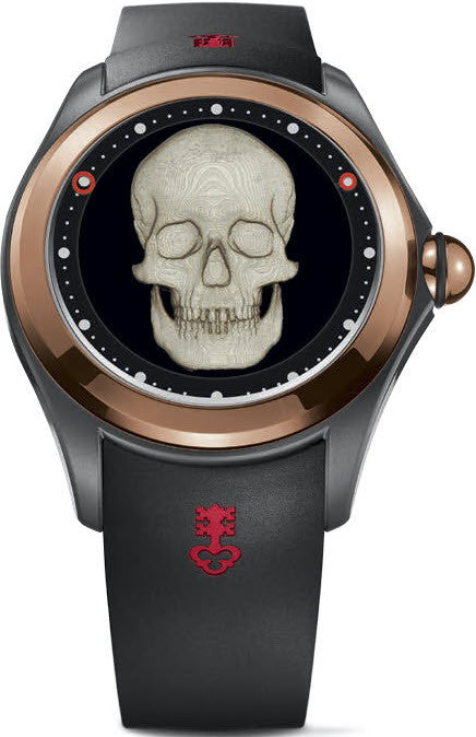 Bargain Corum Watch Bubble Magical 52 3D Skull Stockists