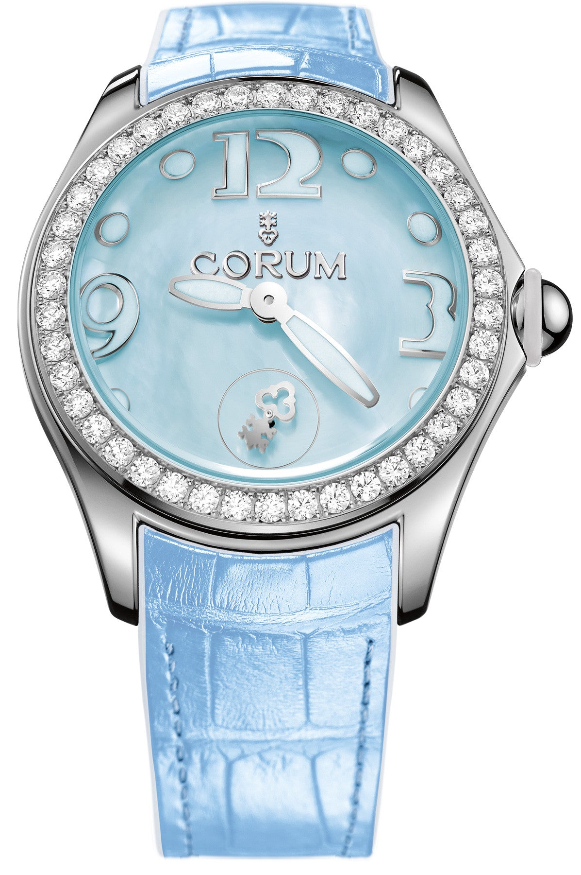 Bargain Corum Watch Bubble Mother of Pearl Ladies Blue Diamond Stockists
