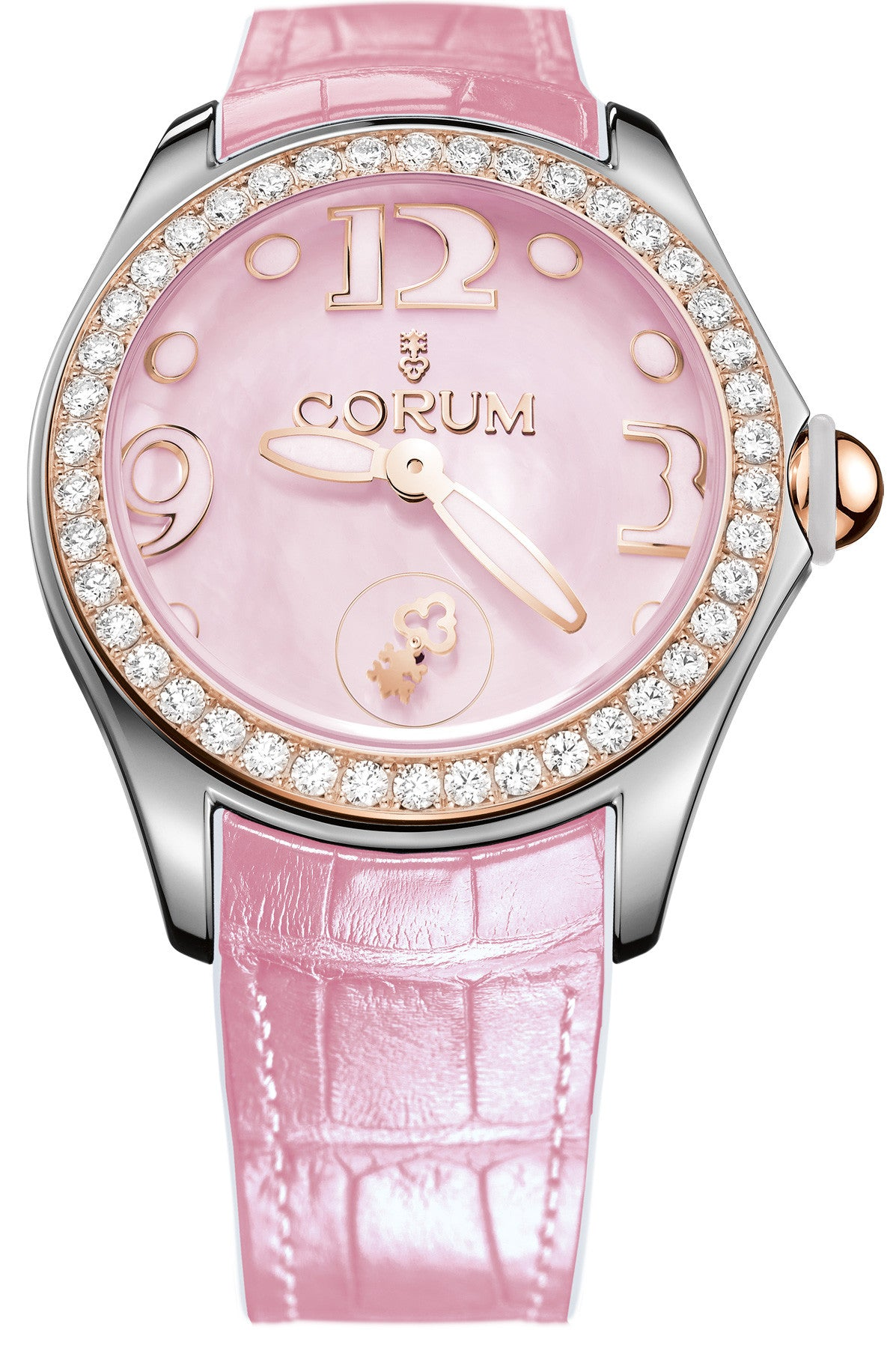 Bargain Corum Watch Bubble Mother of Pearl Ladies Pink Diamond Stockists