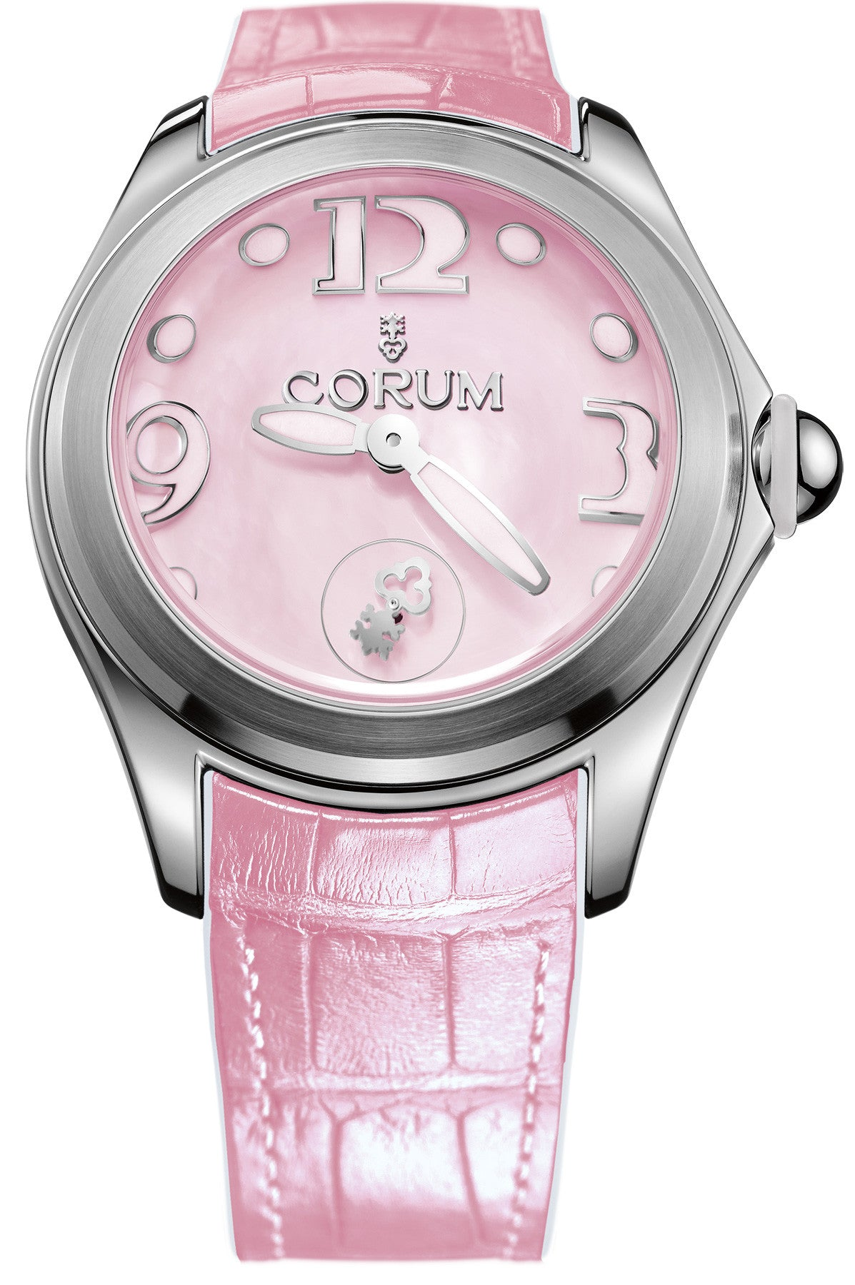Bargain Corum Watch Bubble Mother of Pearl Ladies Pink Stockists