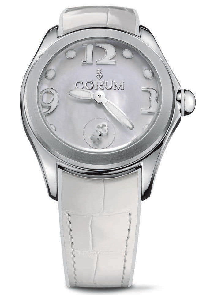 Bargain Corum Watch Bubble Mother of Pearl Ladies White Stockists