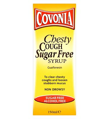 Bargain Covonia Chesty Cough Sugar Free Syrup   150ml Stockists