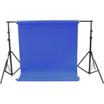 Bargain Creativity 2.72x11m Chroma Blue Paper Background Roll Stockists