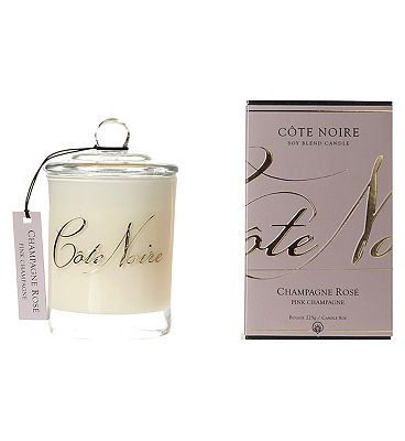 Bargain Cte Noire Natural Wax Candle 185g Pink Champagne Stockists