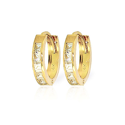 Bargain Cubic Zirconia Huggie Earrings 1.1ctw in 9ct Gold Stockists