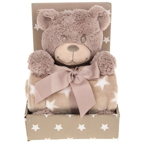 Bargain Cuddle Time Soft Baby Blanket Set - Teddy Bear Stockists