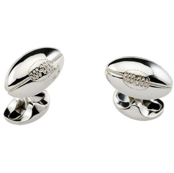 Bargain Deakin & Francis Sterling Silver Rugby Ball Cufflinks Stockists