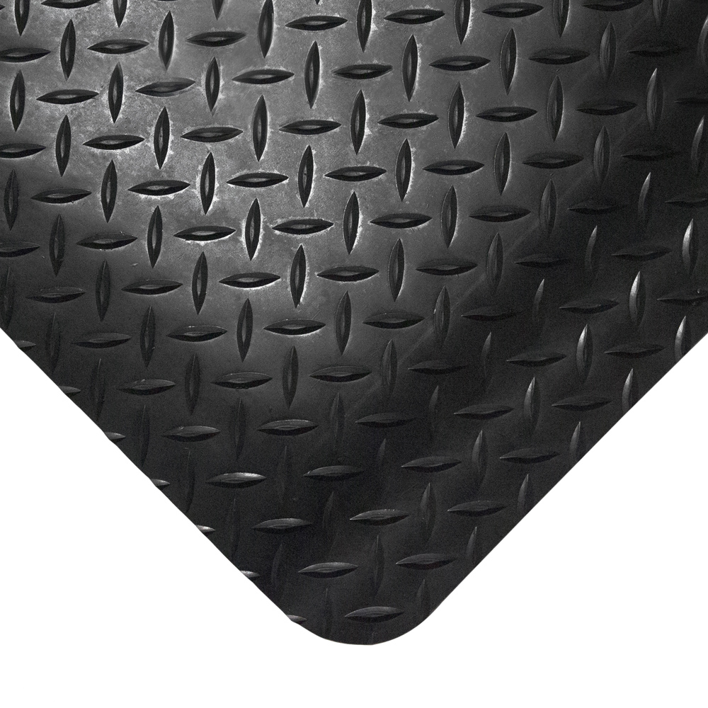 Bargain Deckplate Anti Fatigue Mats Standard 600 x 900 Black Stockists