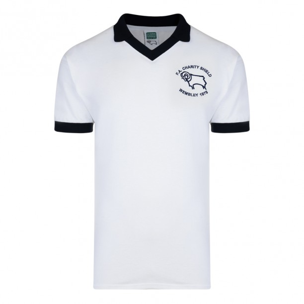 Stockists of Derby County 1975 Charity Shield Retro Shirt