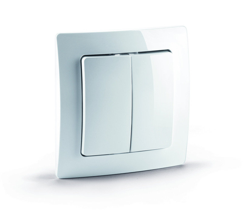 Bargain Devolo Room Control Wall Switch 9505   White Stockists