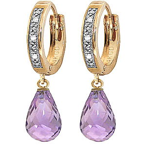 Bargain Diamond and Amethyst Earrings in 9ct Gold Stockists