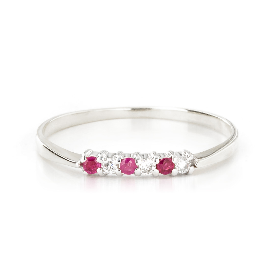 Bargain Diamond and Ruby Ring in 9ct White Gold Stockists