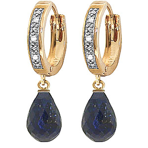 Bargain Diamond and Sapphire Earrings in 9ct Gold Stockists