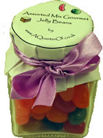 Bargain Dinky Glass Jar   Assorted Gourmet Jelly Beans Stockists