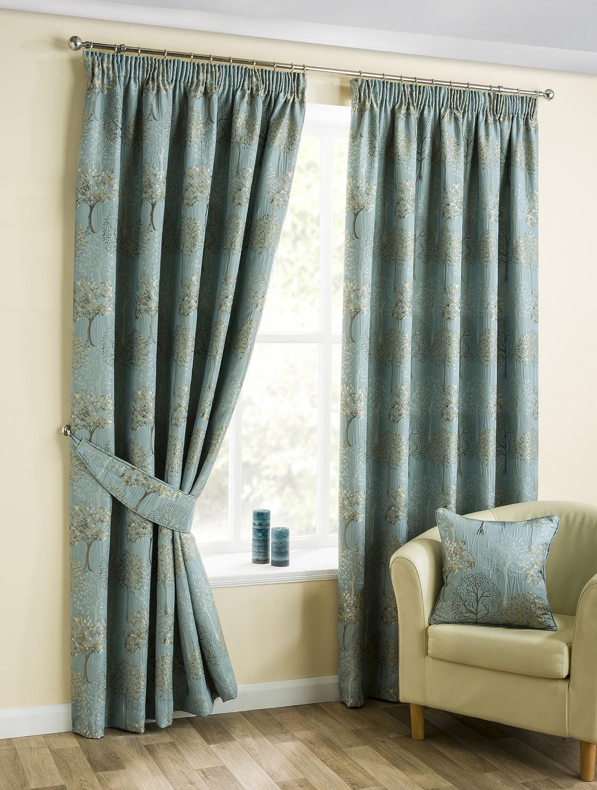 Bargain Duck Egg Cannes Ready Made Lined Curtains Stockists