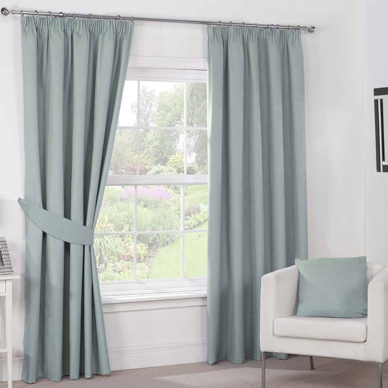 Bargain Duck Egg Julian Charles Luna Ready Made Blackout Curtains Stockists